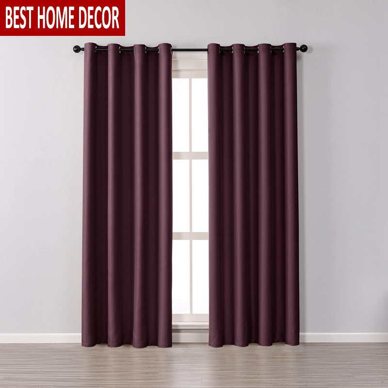Big Offer C6a7 Modern Blackout Curtains For Living Room Bedroom Curtains For Window Drapes Wine Red Finished Blackout Curtains 1 Panel Blinds Cicig Co