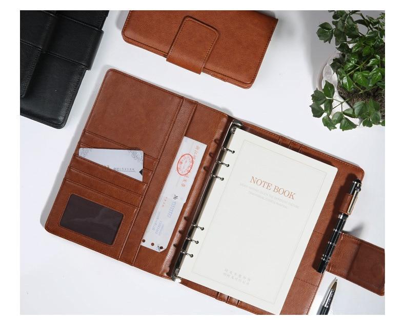 spiral A5 business office PU leather diary notebook travel journal planner agenda 2019 sketch book folder ring binder 453