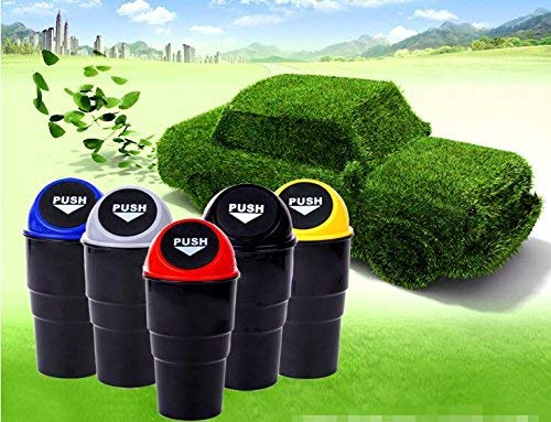 Vehicle Automotive Cup Holder Garbage Can Small Mini Trash Bin Car Trash Garbage Can For Car Office Hom
