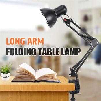 E27 /E26 bombillas Led para lámpara de mesa Flexible brazo oscilante abrazadera montaje lámpara Oficina estudio hogar mesa escritorio luz EU/US enchufe AC85-265V