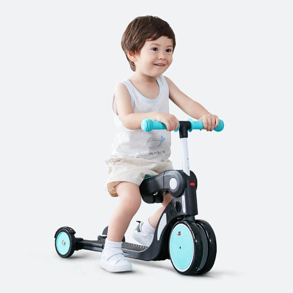Multi-fonction déformation Tricycle enfants trois roues Balance vélo Scooter bébé marcheur 2-6 ans cinq en un tour jouets