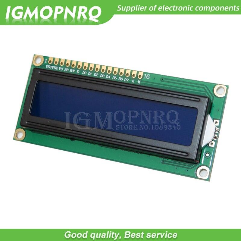 1 шт. 5В lcd 1602 синий экран персонажа ЖК LCD 1602 модуль дисплея синий черный свет новый и белый код|Интегральные схемы|   | АлиЭкспресс