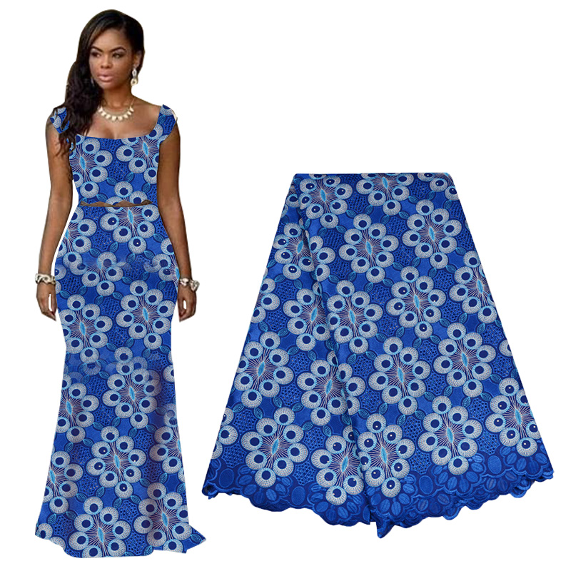 High Quality Dry African Lace Fabric 2019 Swiss Voile Lace Fabric Fashion Nigerian Lace Fabric For Wedding Party Dresses