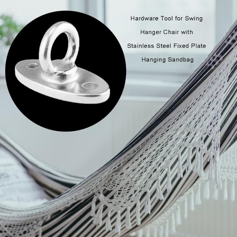 Garden Patio Furniture Stainless Steel Fixed Plate Hook Sandbag Swing Chair Hammock Hanging Hooks Restaurantecarlini Com Br