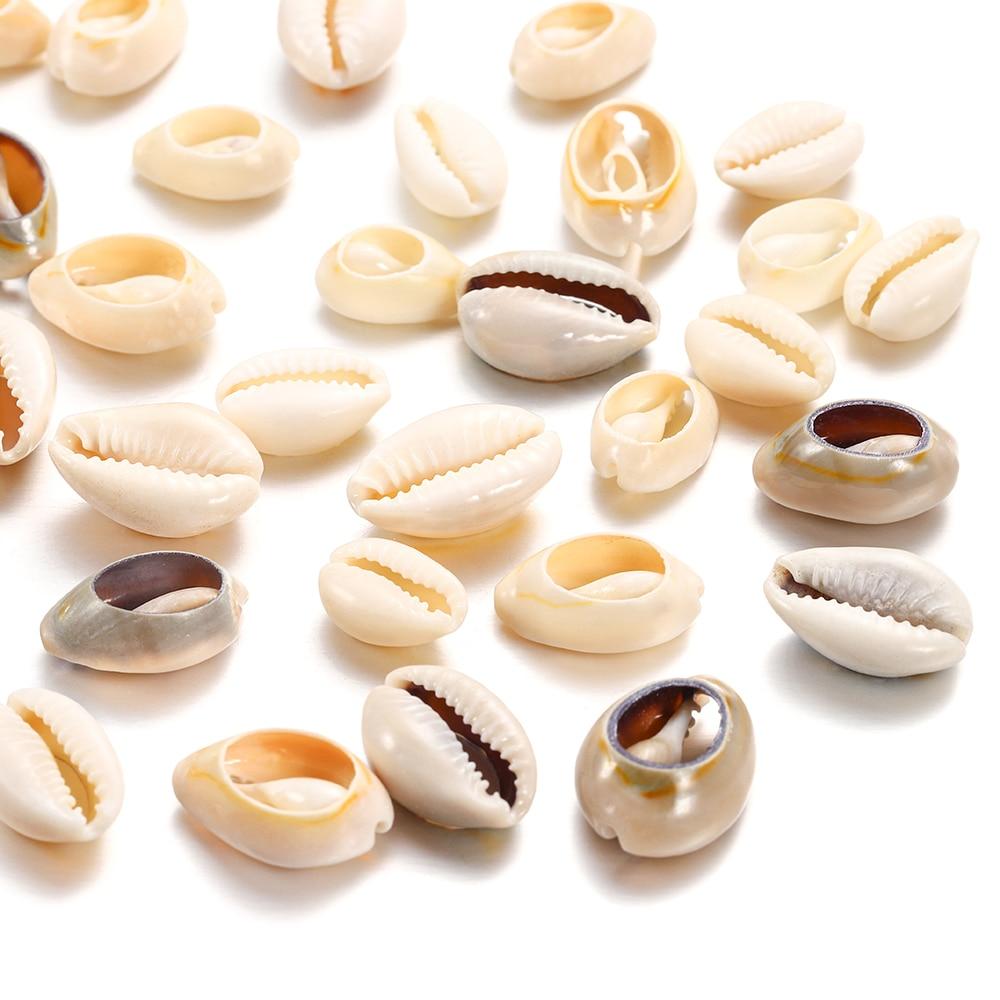 50 pçs/lote natural pequena concha de mar forma concha para diy jóias fazendo encontrar acessórios suprimentos concha colar pulseira