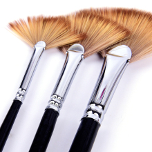Oil-Painting-Brush-Set Art-Supplies Watercolor Acrylic Nylon-Hair Gouache 3pcs/Lot Shape-Tip
