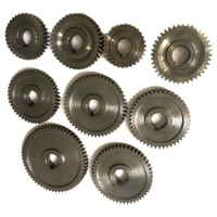 9Pcs/Set CJ0618 Household Small Lathe  Micro Lathe Gear  Metal Exchange Gear|Lathe|Tools -