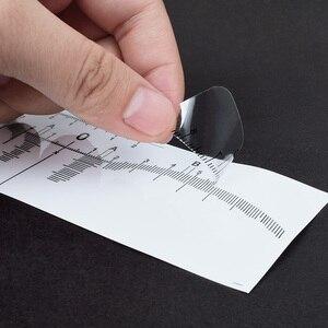 Image 3 - 10 قطعة قابلة لإعادة الاستخدام شبه الدائم الحاجب رولميكروبلادينغ Calliper استنسل ماكياج العين الحاجب قياس أداة الحاجب دليل حاكم