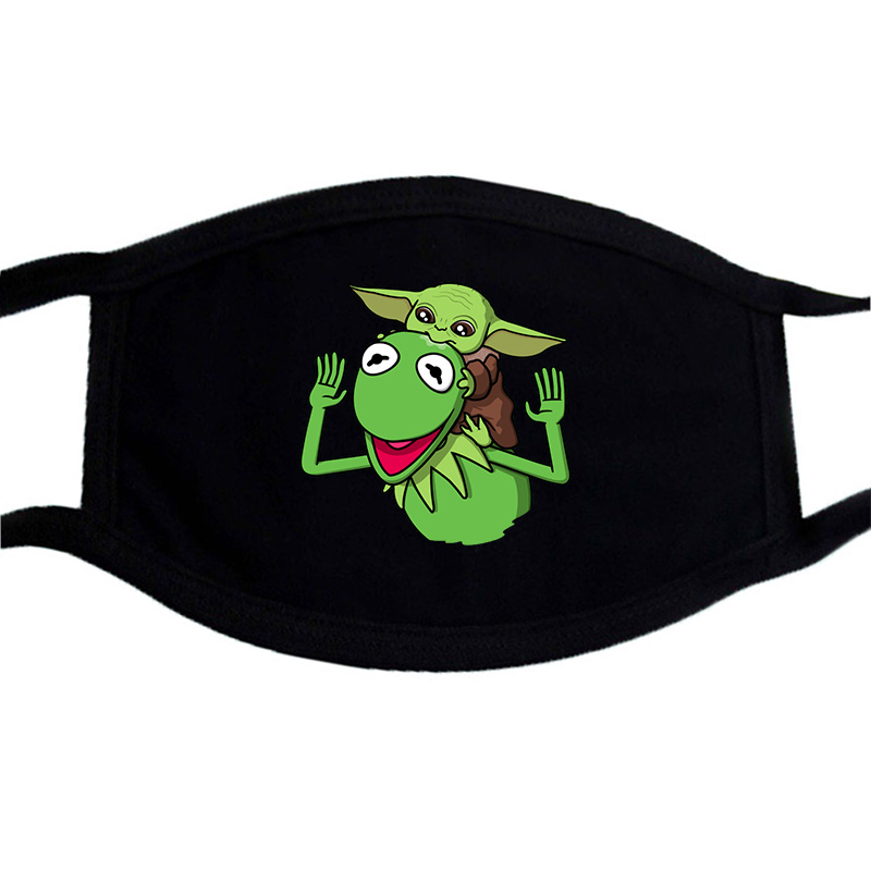 Star Wars Yoda Scout Troopers Mask Black Casual Winter Warm Cotton Dustproof Masks Mouth-Muffle Uniesx Print Washable Face Mask