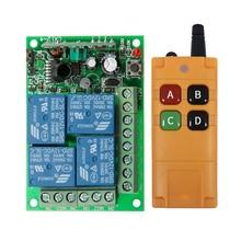 2000m dc12v 24v 4ch 4 ch,ワイヤレスリモコン,LEDライトスイッチ,ラジオ受信機および315/433 mhz