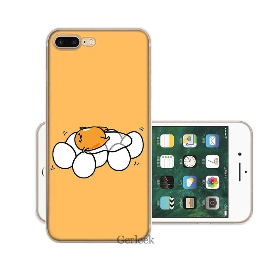 מקרה טלפון נייד עבור iPhone XR X XS מקסימום 11 פרו XR 6 6S iPhone 7 8 בתוספת 5 5S SE TPU כיסוי חמוד יפה gudetama עצלן ביצה