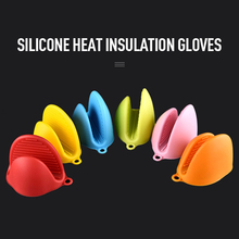 Kitchen Silicone Gloves Microwave Oven Mitts Heat Resistant Gloves Clips Pot Holder Finger Protector Gloves guantes para horno thickening cotton gloves heat resistant gloves heat insulation safety gloves microwave oven gloves g0408