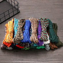 1PC 5M Diameter 4mm Paracord Cord Rope Parachute Cord Lanyard Tent Ropes Survival kit Outdoor Ropes Hiking Camping Equipment