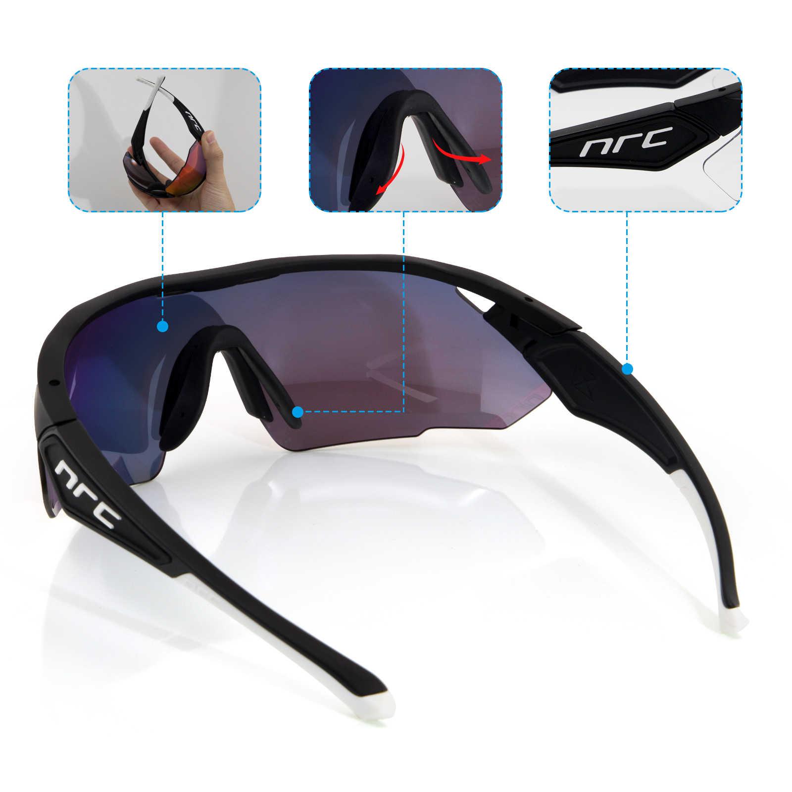 Солнцезащитные очки для езды на велосипеде, фотохромные очки с 1 линзой UV400