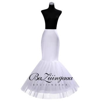 Bridal Slippery Thin Evening Dress White Big Fishtail Wedding Slip Black Petticoat Accessories
