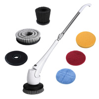 HOMEMAXS High end Long Handle Multi functional Cordless Electric Telescoping Power Scrubber Cleaning Brush with US Plug
