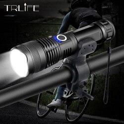 20000 lm XHP50 LED latarka rowerowa najmocniejszy USB akumulator USB Zoom światło rowerowe latarka 18650 26650 na rower światło rowerowe Oświetlenie rowerowe Sport i rozrywka -