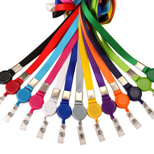 Badge-Clip Id-Holder Retractable Lanyard Name-Card Office-Supplies Neck-Strap School