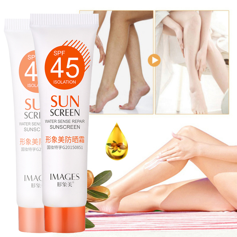 15ml SPF45+ Portable Facial Body Sunscreen Breathable Skin Whitening Spray Sunblock Oil-Control Moisturizing UV Protection TSLM2