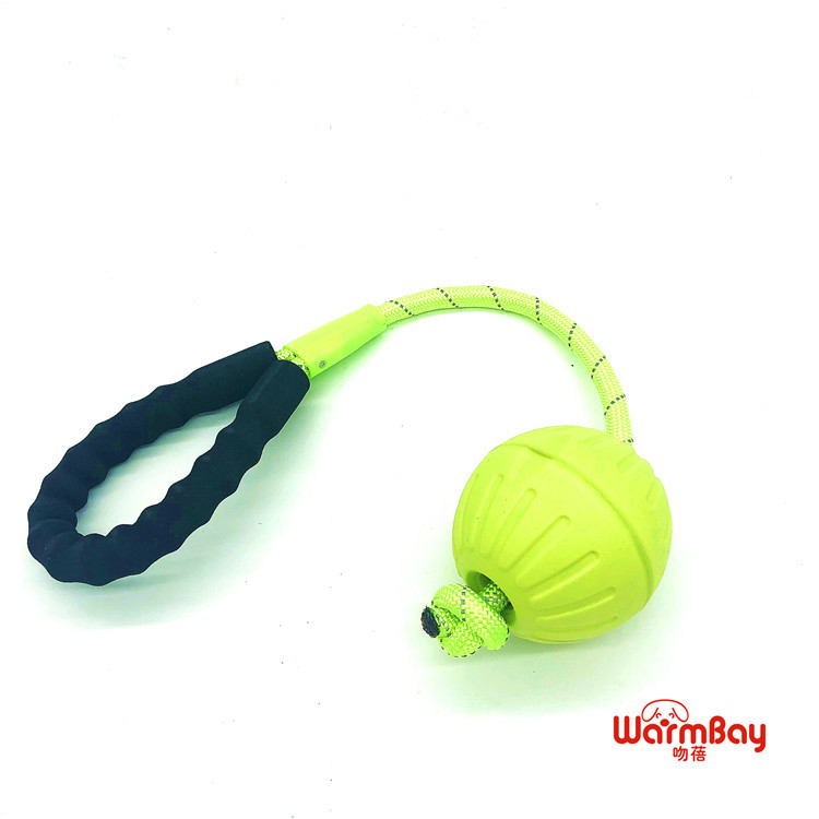 [New Style] Pet Dog Pet Toy Round Ball With Weaving Hand Holding Rope (Four)