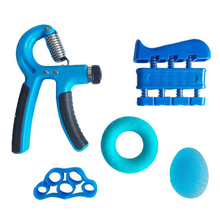 5pcs/set Gym Fitness Adjustable Hand Grip Set Finger Forearm Strength Muscle Recovery Heavy Gripper Exerciser Trainer