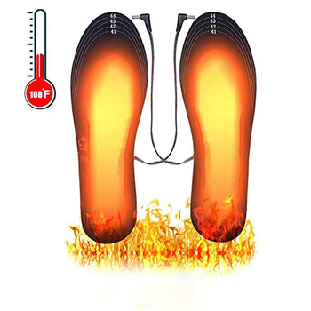 USB Electric Heated Shoe Insoles Feet Warm Sock Pad Mat Electrically Heating Washable Thermal Unisex
