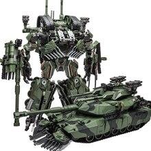 WJ figura de acción transformable de Brawl, tanque de camuflaje, líder SS, modelo M1A1 KO, 28CM, colección de Robot, juguetes para niños, regalos