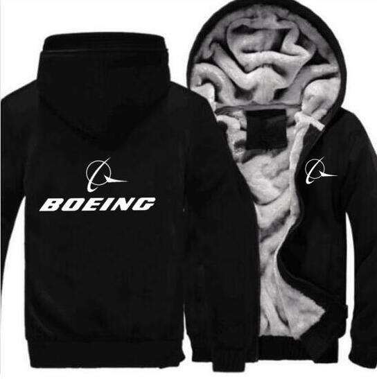 New Autumn And Winter Pilot BOEING Hooded Jacket BOEING Airbus Hoodie Sports Zipper Thickening Camouflage Jacket 777  787  747