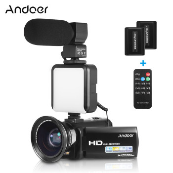 Andoer HDV-201LM 1080P Full HD Digital Video Camera Camcorder Mini DV Recorder 24MP 16X Digital Zoom 3.0 Inch LCD Screen 1