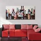 Hand Bemalt Abstrakten Stadt Gebäude Ölgemälde Abstrakte Wand Kunst Bild Wohnzimmer Schlafzimmer Home Decoration Drop Shipping - 4