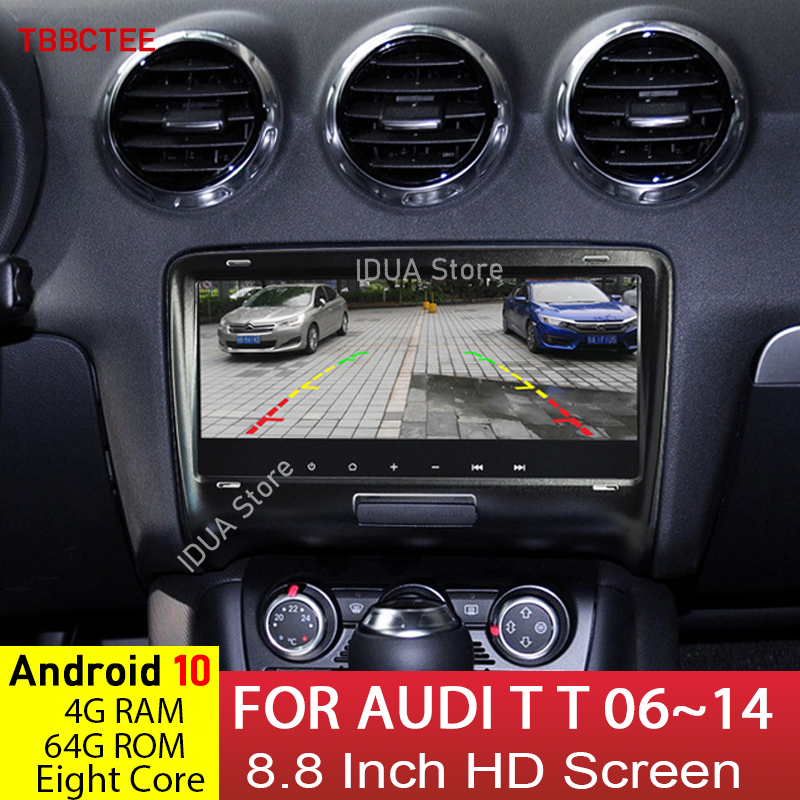 Android <font><b>10</b></font> 8 Core 4+64G GPS Navigastion For Audi TT 2006~2014 MMI Car multimedia player Auto Radio HD Screen radio Bluetooth image