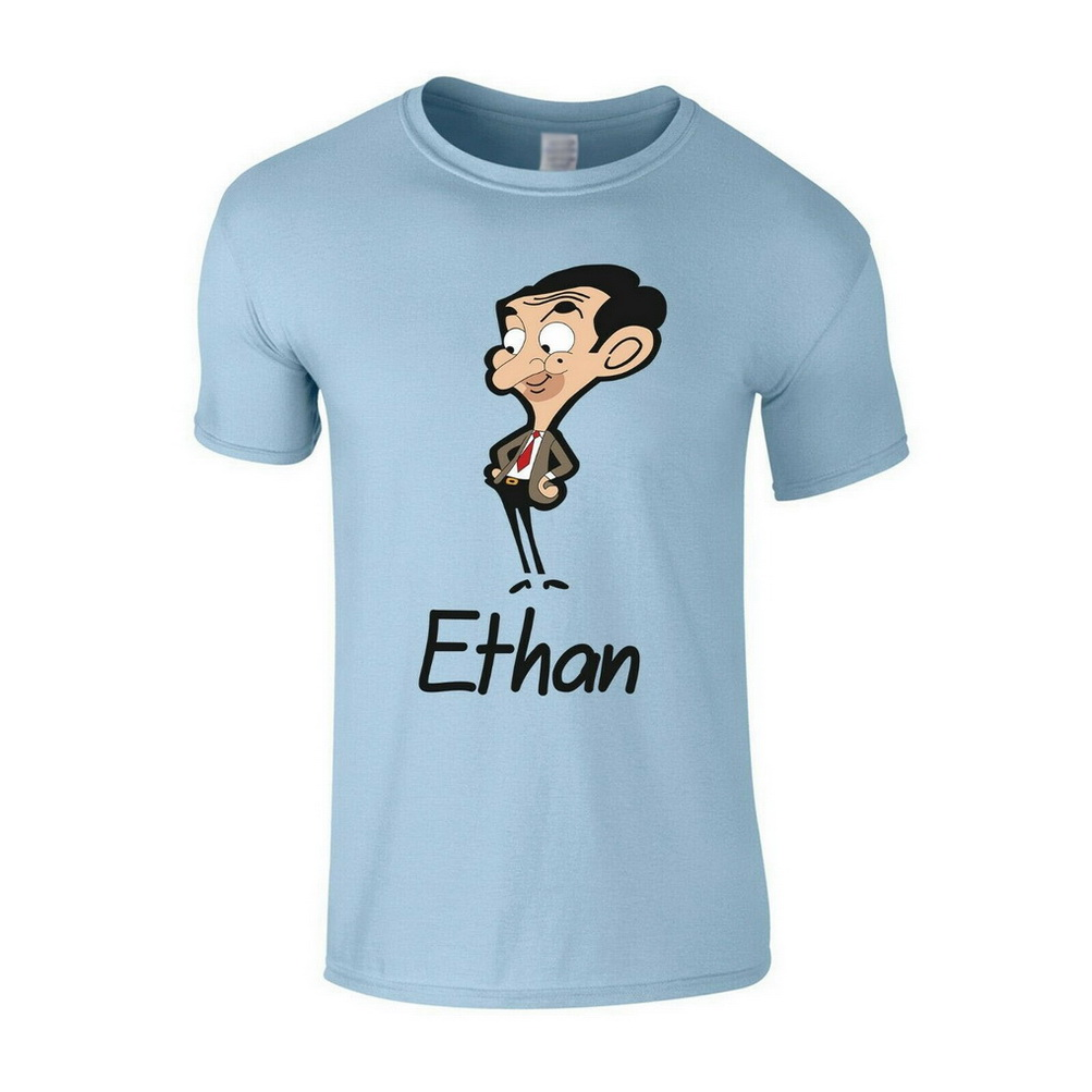 Personalised Name Mr Bean <font><b>Cartoon</b></font> Character Mens Girls Boys Unisex T-Shirt Men Clothes Tops TEE Shirt image
