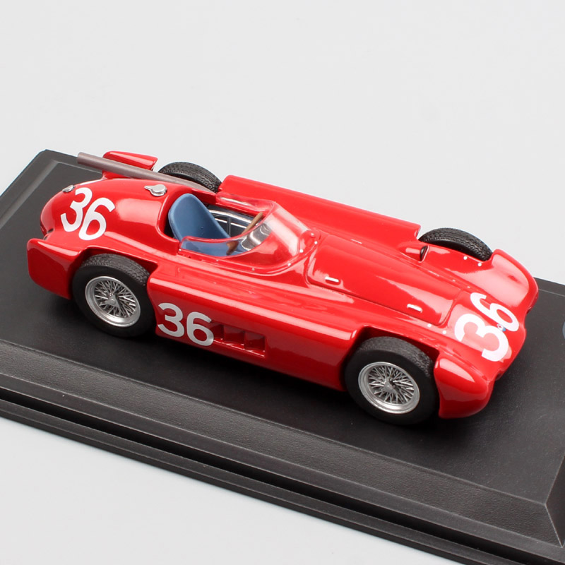 1/43 Scale toy <font><b>vintage</b></font> mini LEO 250 F Italian Grand Prix 1955 No#36 Jean Behra sports racing <font><b>Diecasts</b></font> & Toy Vehicles model car image
