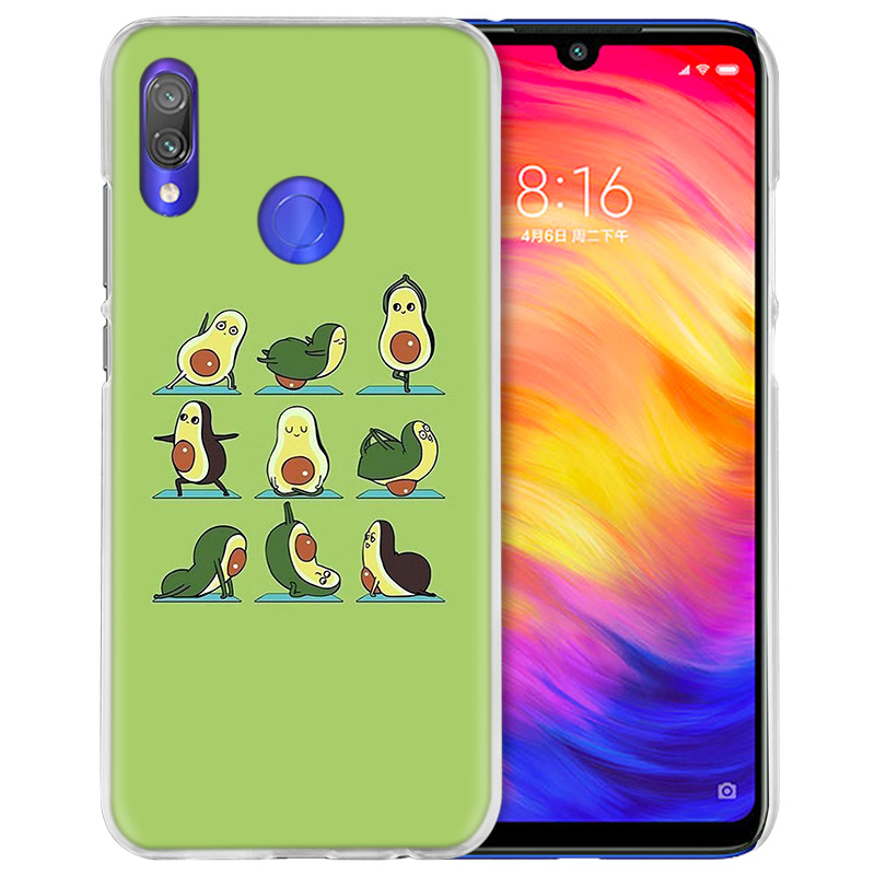 Image 4 - Case Cover for Xiaomi Redmi Note 7 7A 7S 6 6A 5 Y3 K20 Mi 8 9T CC9 CC9E A1 A2 A3 Play F1 Lite Pro Plus avocado yoga-in Half-wrapped Cases from Cellphones & Telecommunications