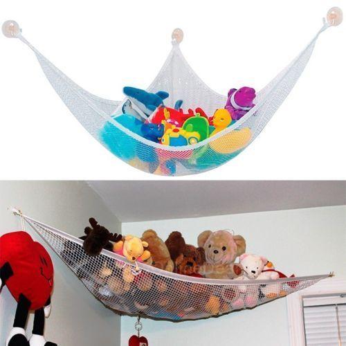 Детская сумка для хранения игрушек, гамак JUMBO Deluxe, для организации домашних животных, угловой набивной гамак для игрушек, сетчатый мешок для