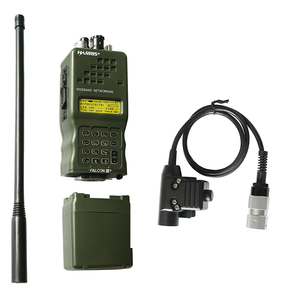 AN/PRC-152 PRC 152 Harris Dummy Radio Case,Military Talkie-Walkie Model For Baofeng Radio,No Function + U94 PTT 6-pin Plug