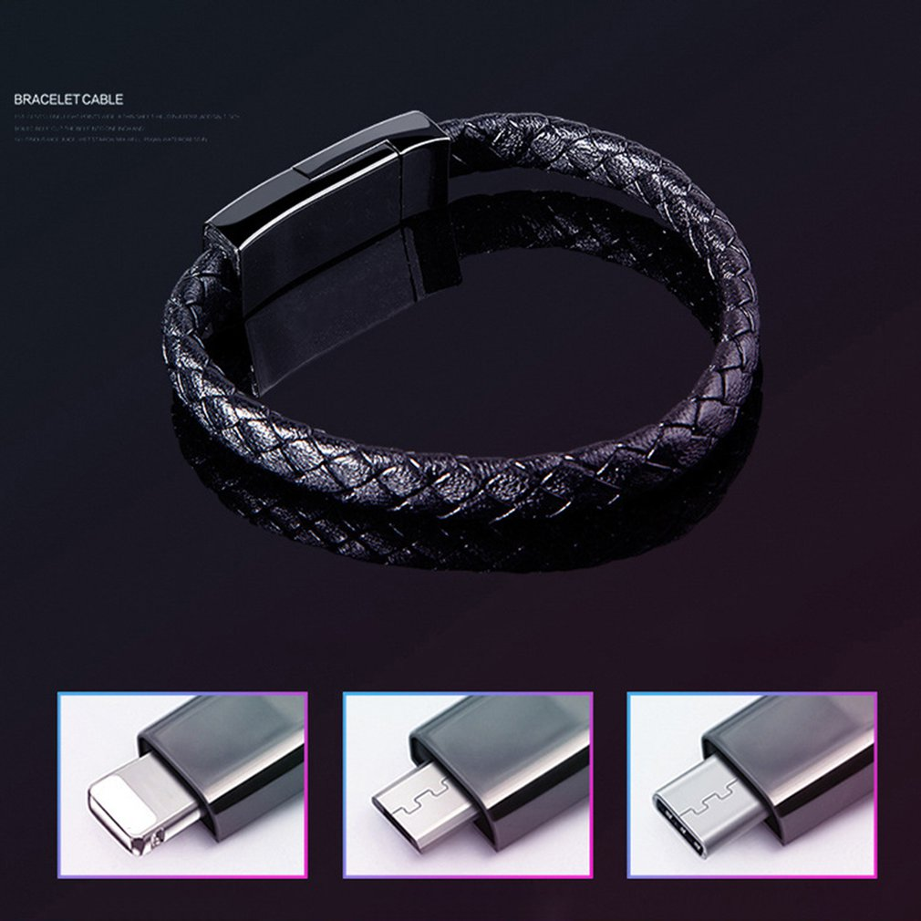 Sports Bracelet Mobile Phone Data Cable Type C Fast Charging Cable Flat Section For Apple Android in Data Cables from Consumer Electronics