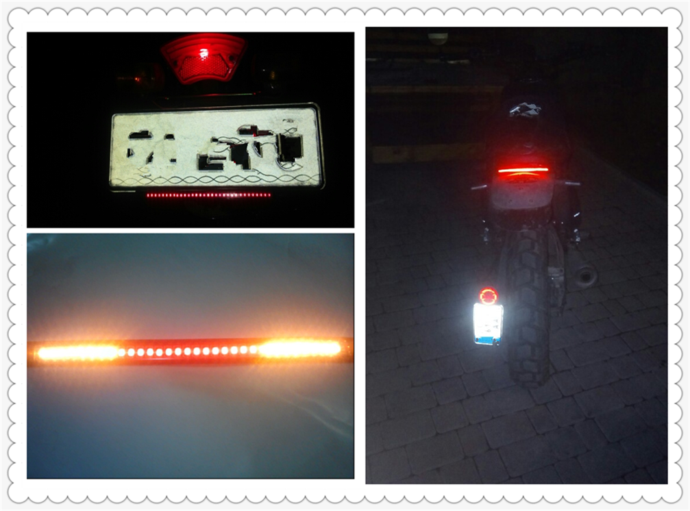 Motorcycle light with tail brake stop turn signal LED red amber for Kawasaki ZR750 ZEPHYR ZX-6 ZX9R ZXR400 ZZR600 VERSYS 1000