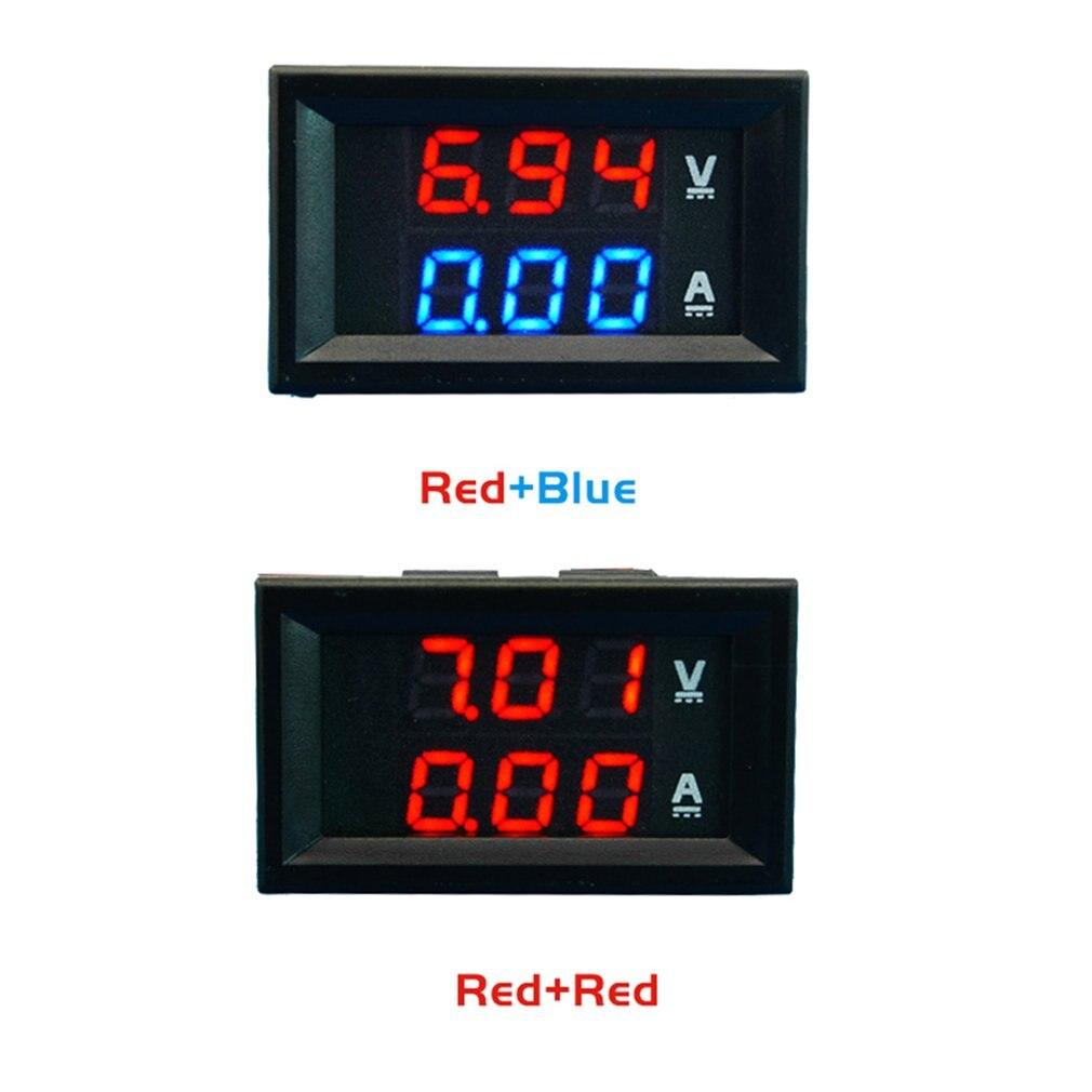 Voltímetro Amperímetro Azul Vermelho Led Amp Duplo Digital Volt Medidor Amperimétrico dc 100v 10a