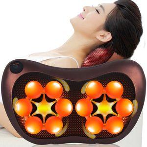 18 głowa masażer szyi samochód Home szyjki macicy Shiatsu ogrzewanie masaż szyi powrót talia ciało elektryczne 8 głowa poduszka masująca 40