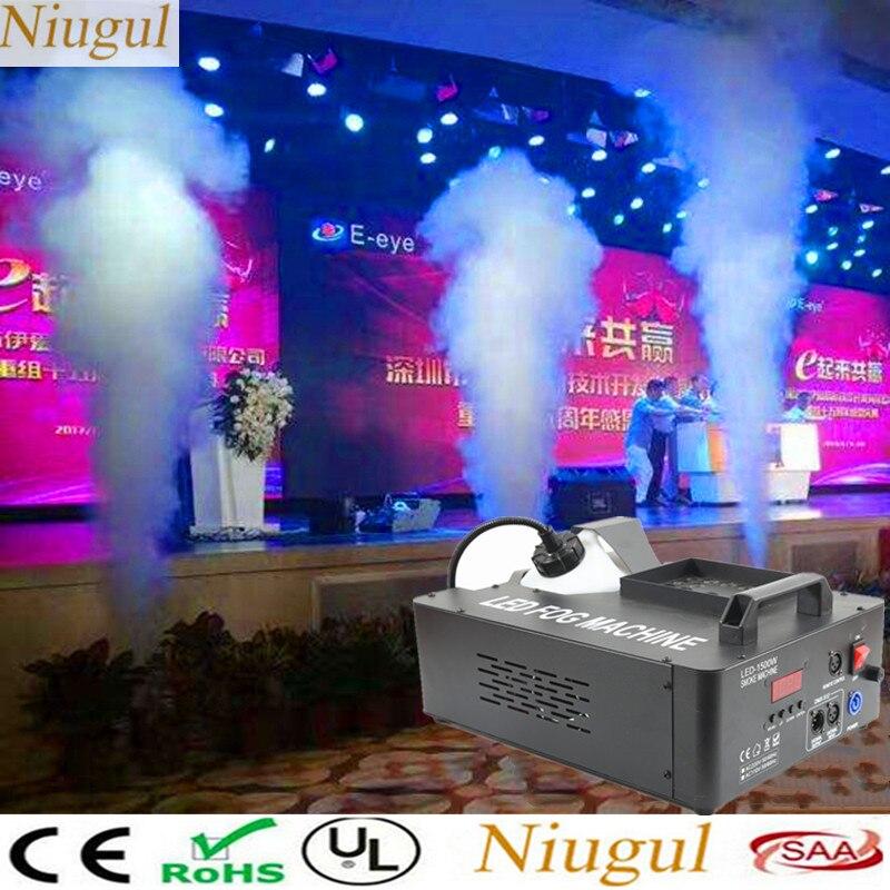 LED 1500 W máquina de niebla/Disco DJ máquina de humo Vertical con 24X9 W RGB 3IN1 luces LED /DMX 1500 W Fogger para Bar boda fiesta en casa 2 uds. Bombilla de repuesto T5 tubos de luz LED G5 DC12V 6w 430mm 450mm 480mm 1ft tubo fluorescente de conductor incorporado