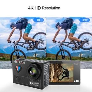 Image 5 - GEEKAM عمل كاميرا T1 شاشة تعمل باللمس الترا HD 4 K/30fps 20MP واي فاي تحت الماء مقاوم للماء دراجة خوذة المتطرفة الرياضة كاميرا فيديو