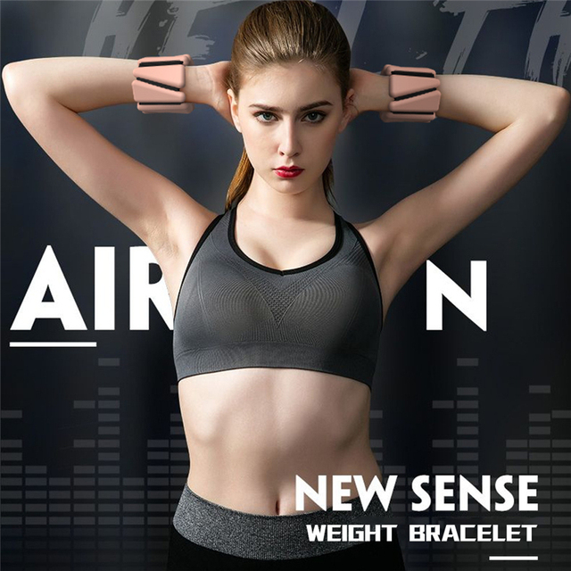 1 Pair Silicone Weights Bracelet Adjustable Wrist Ankle Strap Running Yoga Pilates Training Exercise Fitness Equipment Wristband 5
