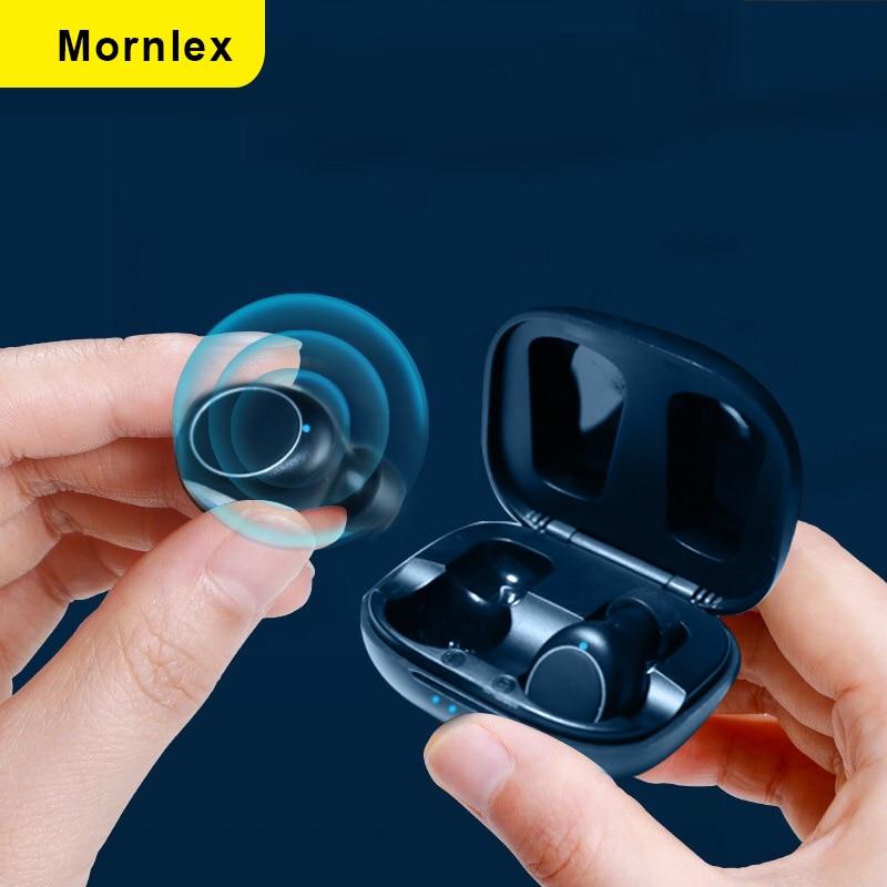 Mornlex MT01 наушники-вкладыши TWS Bluetooth 5,0 наушники стерео Беспроводной кнопочное управление Шум шумоподавления игровые спортивные Водонепрониц...