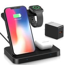 Wireless Charger 5 in 1 Charging Stand For Apple iWatch 5/4/3/2/1, Aripod Pro/2,Galaxy Watch 42mm/46mm/Active,Gear S3(China)