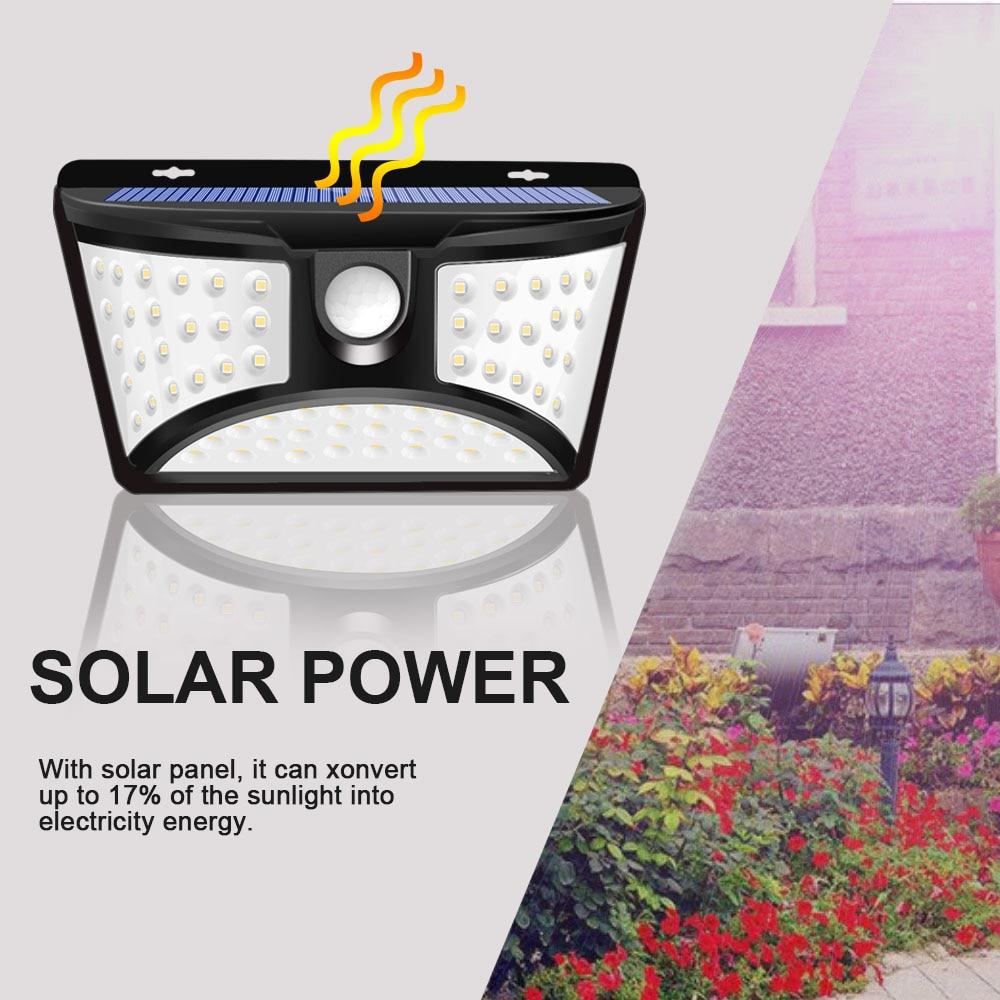 Super Brilhante 68 LEVOU Parede Sensor de Movimento Movido a energia solar Luzes de Rua Ao Ar Livre Lâmpada de Emergência Solar para Decoração de Jardim À Prova D' Água