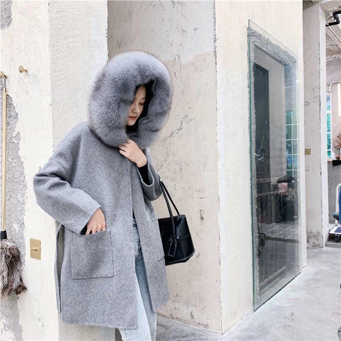 แฟชั่นเรียบง่ายหญิงหญิงเสื้อฤดูใบไม้ร่วงฤดูหนาว 2019 ใหม่เกาหลีรุ่นโมเดิร์นความหนา SUPERNATURAL Comfy จริงขนสัตว์