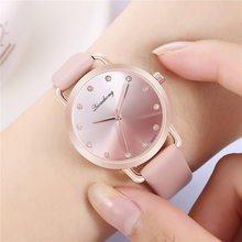 Women Watches Creative Simple Quartz Women Watch Luxury Wristwatches For Ladies Leather Wrist Watches Woman Elegant Female Clock(China)