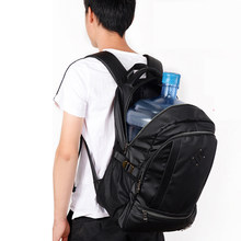 Large Capacity Men Backpack Laptop 15.6 Casual Oxford Black College High Student Backpack School Bags Leisure Teen Bagpack 2020(China)