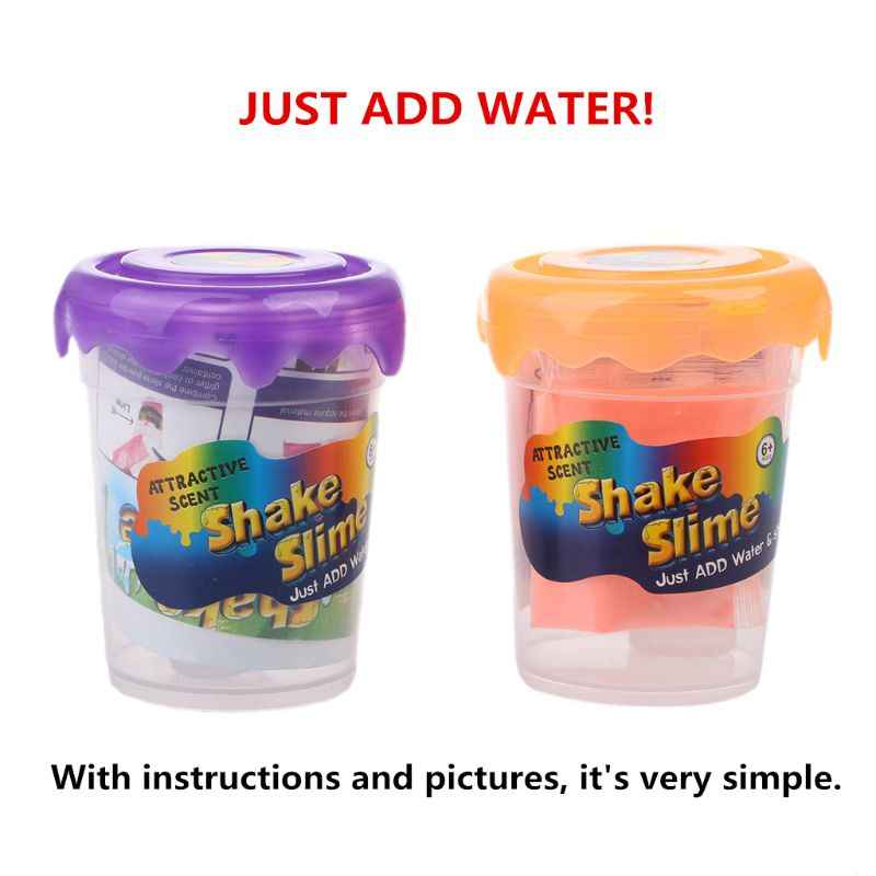 Sihir Baru Lendir Bubuk Membuat 80 Ml Glitter Lendir Shake Lendir DIY Slime Kit dengan Lendir Kotak Hanya Menambahkan Air y4UD